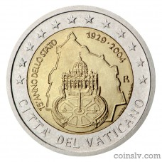 "2 euro Vatican 2004 ""75th anniversary of the founding of the Vatican City State"""