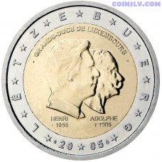 2 Euro Luxembourg 2005 - Henri and Adolphe