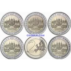 "5 X 2 Euro Germany 2007 ""Mecklenburg-Western Pomerania ""Schwerin Castle"""" (ADFGJ)"