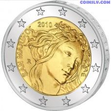 "2 euro San Marino 2010 ""500th anniversary of the death of Sandro Botticelli"""