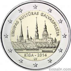"2 Euro Latvia 2014 ""Riga — European Capital of Culture 2014"""