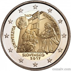 "2 euro Slovakia 2017 ""550th Anniversary of the founding of Academia Istropolitana"""