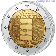 2 Euro Andorra 2017 - 100 years of the anthem of Andorra