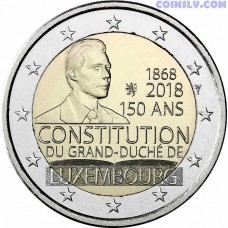 2 Euro Luxembourg 2018 - 150th Anniversary of the Constitution of Luxembourg
