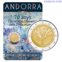 2 euro Andorra 2018 - 70 years of the Universal Declaration of Human Rights