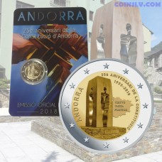 2 euro Andorra 2018 - 25th anniversary of the Andorran Constitution