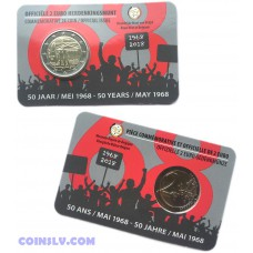 2 Euro Belgium 2018 -The 50th anniversary of May 1968 events in Belgium