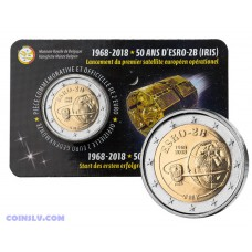2 Euro Belgium 2018 - 50th Anniversary of the launch of the ESRO-2B satellite