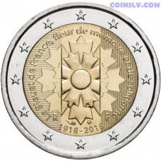 2 euro France 2018 - Le Bleuet de France - Remembrance cornflower