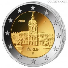 "2 Euro Germany 2018 ""Berlin ""Charlottenburg Castle"" (A)"