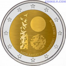 2 Euro Estonia 2018 - 100th Anniversary of the Independence of the Estonia
