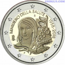 2 Euro Italy 2018 - The 60th Anniversary of the establishment of the Italian Ministry of Health