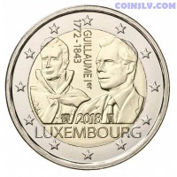 2 Euro Luxembourg 2018 - The 175th anniversary of the death of the Grand Duke Guillaume Ist