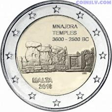 2 Euro Malta 2018 - Temples of Mnajdra