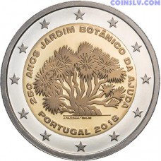 2 Euro Portugal 2018 - 250 years of the Ajuda Botanical Garden