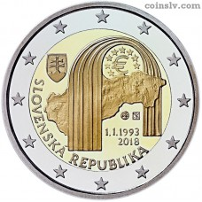 "2 euro Slovakia 2018 ""The 25th anniversary of the establishment of the Slovak Republic"""