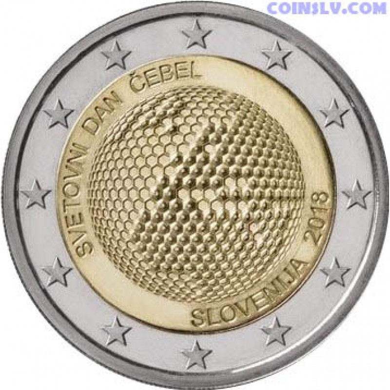 slovenia 2 euro roll 2018 slovenia world day of bees x25 coins. Black Bedroom Furniture Sets. Home Design Ideas