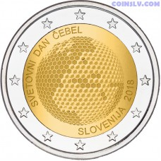 2 Euro Slovenia 2018 - Slovenia World Day of Bees