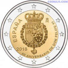 2 Euro Spain 2018 - The 50th anniversary of King FELIPE VI