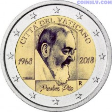 2 Euro Vatican 2018 - 50th Anniversary of the death of Padre Pio