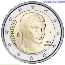 2 Euro Italy 2019 - The 500th anniversary of the death of Leonardo da Vinci