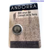 2 Euro Andorra 2019 - 600 Years of the Consell de la Terra