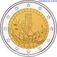 2 Euro Estonia 2019 - 150th anniversary of the Estonian song festival
