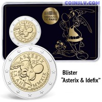 2 Euro France 2019 - The 60th anniversary of Asterix (Coincard Asterix & Idefix)