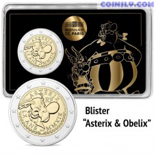 2 Euro France 2019 - The 60th anniversary of Asterix (Coincard Asterix & Obelix)