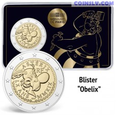 2 Euro France 2019 - The 60th anniversary of Asterix (Coincard Obelix)