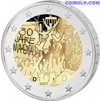 2 Euro Germany 2019 - 30 years of the fall of the Berlin Wall (D)