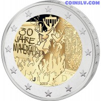 2 Euro Germany 2019 - 30 years of the fall of the Berlin Wall (J)