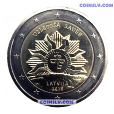 2 Euro Latvia 2019 - The Rising Sun