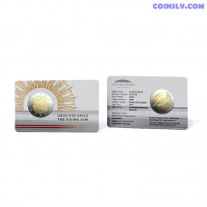 Coincard 2 Euro BU Latvia 2019 - The Rising Sun