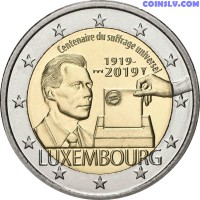 2 Euro Luxembourg 2019 - The 100th anniversary of the universal suffrage