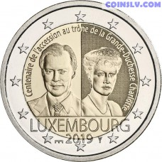 2 Euro Luxembourg 2019 - The 100th anniversary of the accession to the throne of Grand Duchess Charlotte