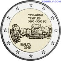 2 Euro Malta 2019 - Maltese prehistoric temples of Ta' Ħaġrat