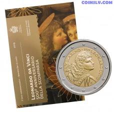 2 Euro San Marino 2019 - 500th anniversary of the death of Leonardo da Vinci