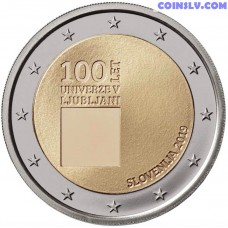 2 Euro Slovenia 2019 - The 100th anniversary of the foundation of the University of Ljubljana
