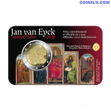 2 Euro Belgium 2020 - Jan van Eyck (FR version coincard)