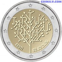 2 Euro Estonia 2020 - 100 years of the Tartu Peace Treaty