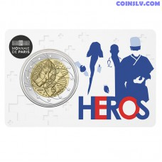 2 Euro France 2020 - Medical Research (Coincard Heroes)
