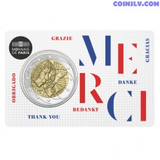 2 Euro France 2020 - Medical Research (Coincard Thank You)