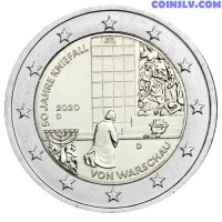 2 Euro Germany 2020 - 50 years of the Warsaw genuflection (D)
