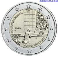 2 Euro Germany 2020 - 50 years of the Warsaw genuflection (G)