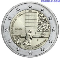 2 Euro Germany 2020 - 50 years of the Warsaw genuflection (J)