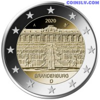 "2 Euro Germany 2020 - Brandenburg ""Sanssouci Palace in Potsdam"" (A)"