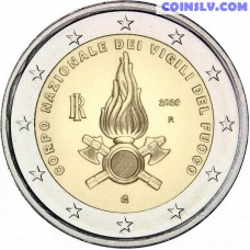 2 Euro Italy 2020 - National Fire Department