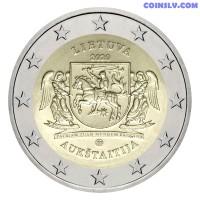 2 Euro Lithuania 2020 - Aukštaitija region