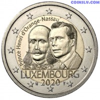 2 Euro Luxembourg 2020 - The 200th anniversary of the birth of Prince Henri